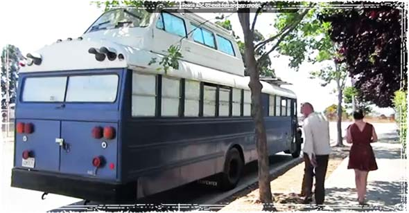 An offgrid home made from a converted school bus