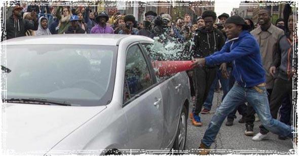 thugs smashing windows