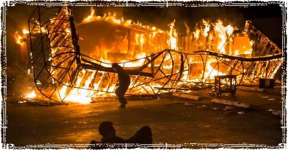 Ferguson Building burning