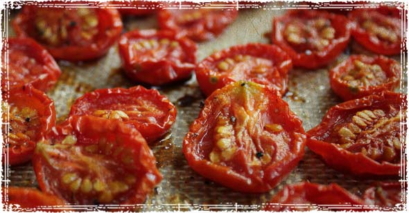 Tomatoes after being dried in the sun