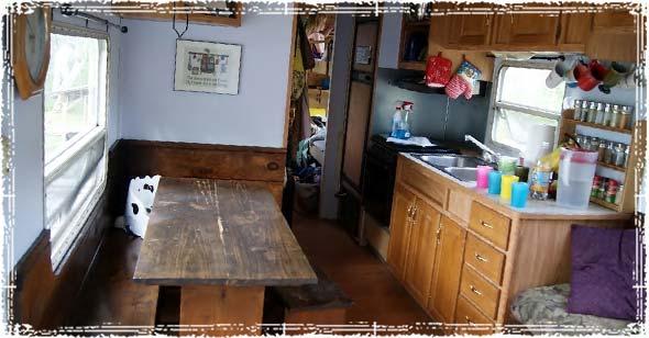 Inside Off-Grid Camper Home