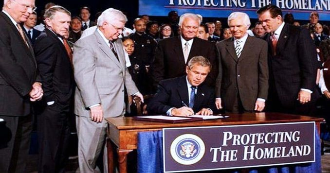 George Bush Signing Homeland Security Bill
