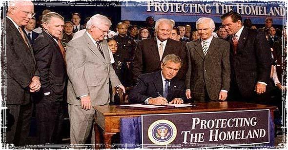 George Bush Signing Bill