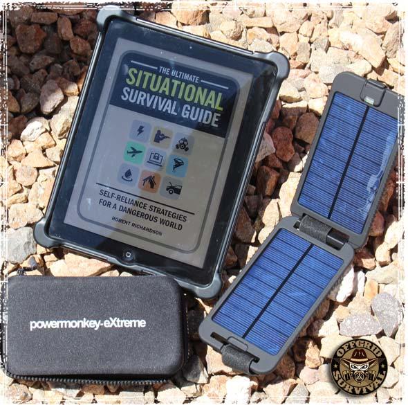 The Powermonkey Extreme charging an iPad