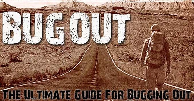 Man with Bug Out Bag
