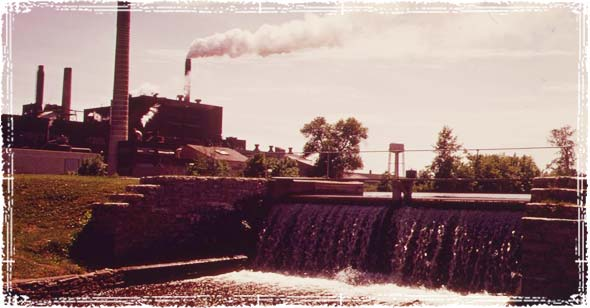 Industrial Plant polluting river