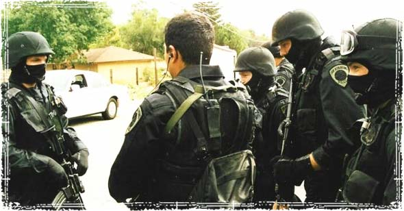 SWAT Team looking for criminals