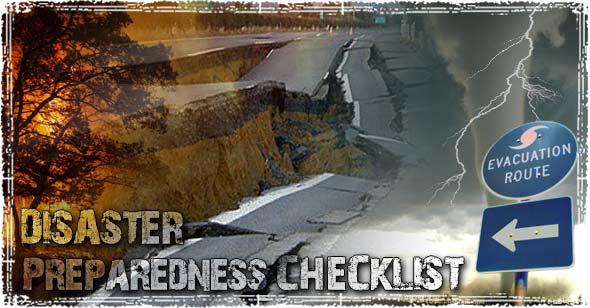Natural Disaster Preparedness Checklist