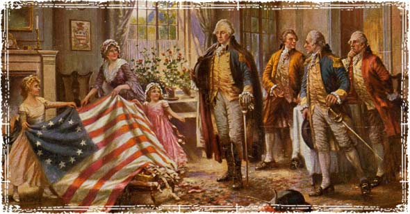 Washington with Flag