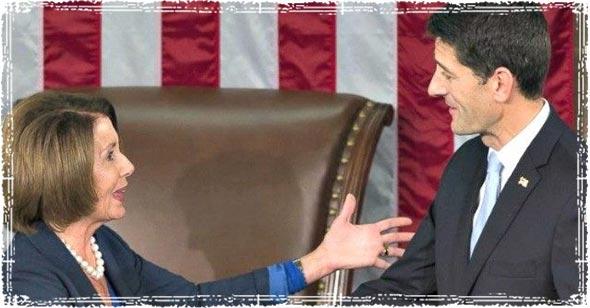 Paul Ryan and Nancy Pelosi