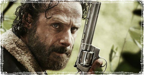 Rick Grimes holding gun