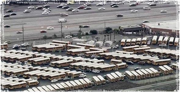 L.A. School District Buses