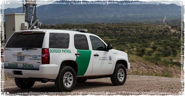 Border Patrol along Mexican Border