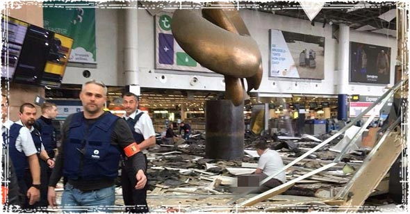 Brussels Terror attack at Airport Terminal