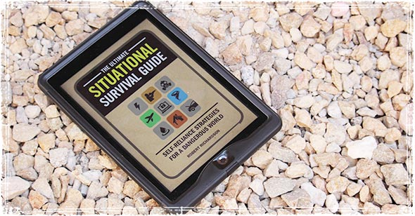 An iPad with the Ultimate Situational Survival Guide