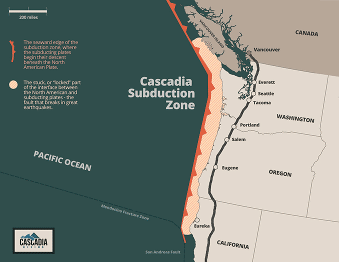 The Cascadia Subduction Zone Quake Map