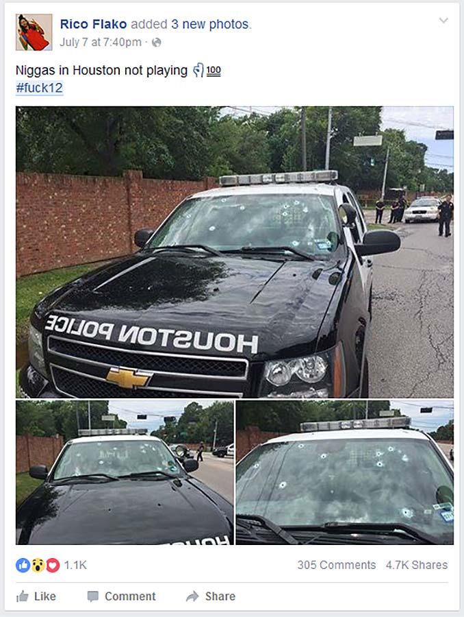 Cop Car Shot