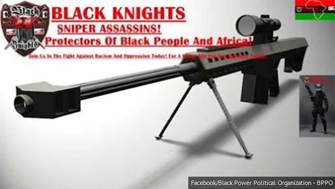 Facebook photo of BLM activists