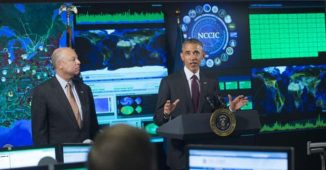 President Obama and Homeland Security Secretary Jeh Johnson