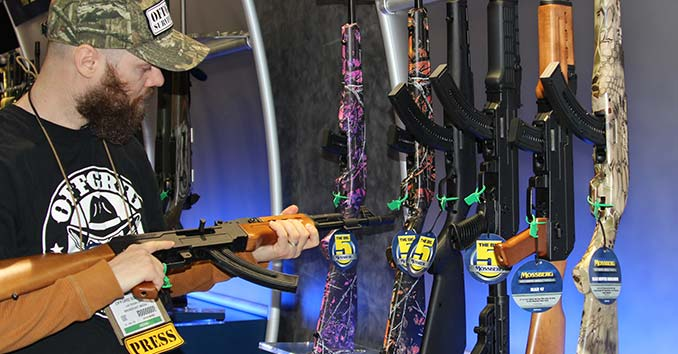A Retail Display of Firearms