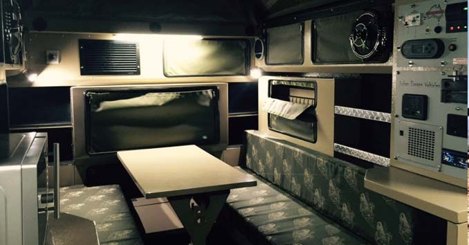 Inside the Commander Travel Trailer
