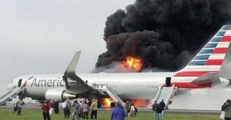 American Airlines 767 Fire