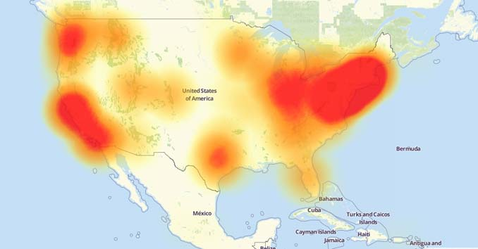 Downdetector Map