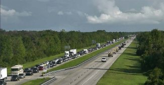 Florida National Guardsmen on Florida Highway