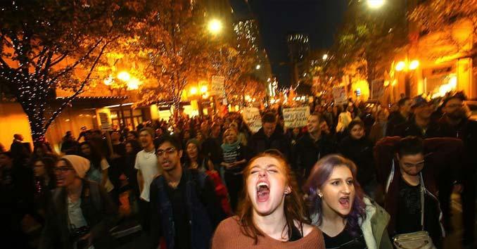 Violent Anti-Trump activists