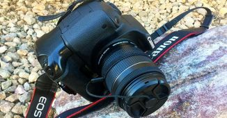 Canon Rebel T5i being used outdoors