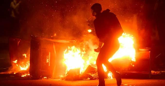 Fires set during Oakland Riots