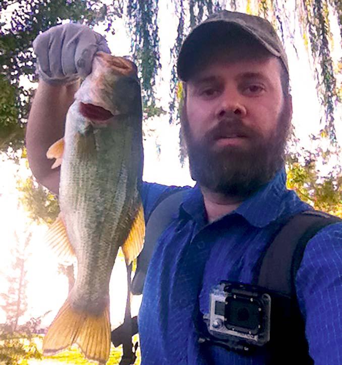 Wearing a GoPro when Fishing