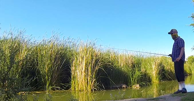 GoPro Video Still shot from a fishing trip