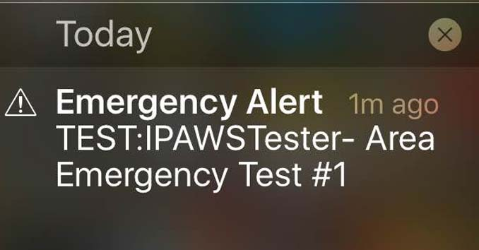 IPAWSTESTER Message