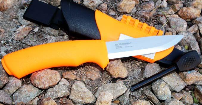 Orange Morakniv Bushcraft Survival Knife