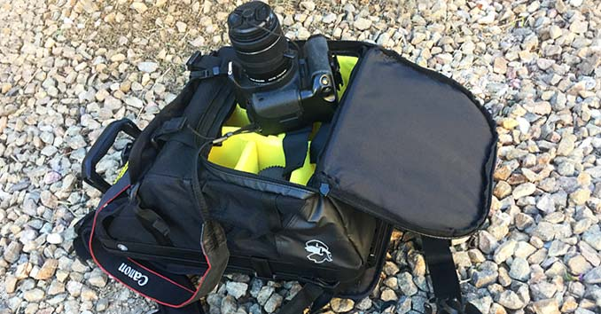 Pelican Camera Backpack with a Camera and Extra Lens