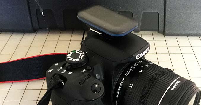 Alpine Labs Pulse Camera Remote on a Canon T5i