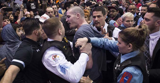 Violence at a Political Trump Rally