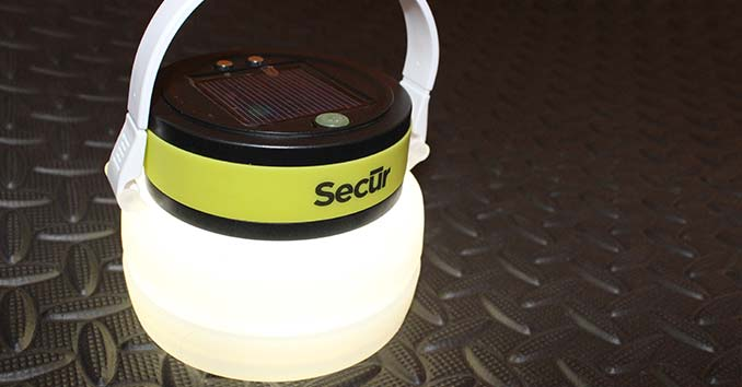 Secur Solar Bottle Lantern with the Light on