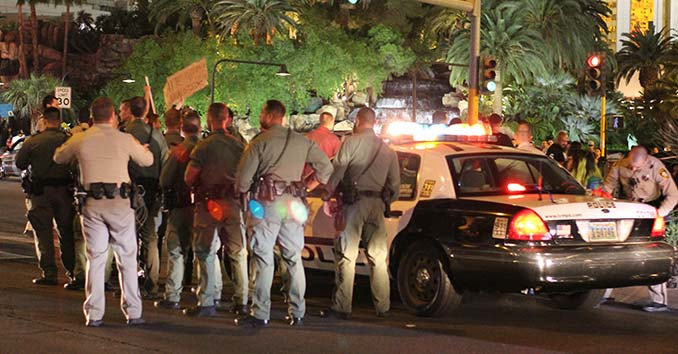 Police Making Arrests on the Strip