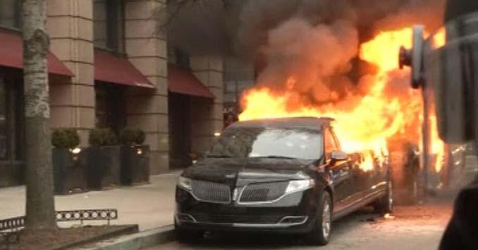 Cars set on fire