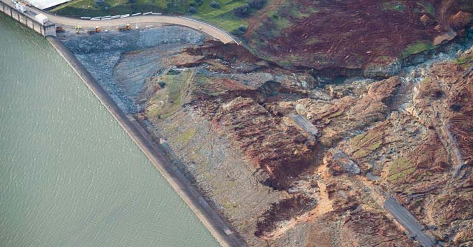Oroville Emergency spillway Damage
