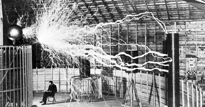 Electricity flowing through the air