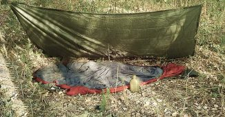 A simple Tarp Shelter