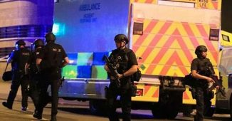 Police outside Manchester Arena