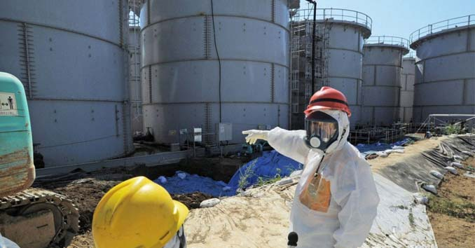 Radioactive Storage Tanks at Fukushima