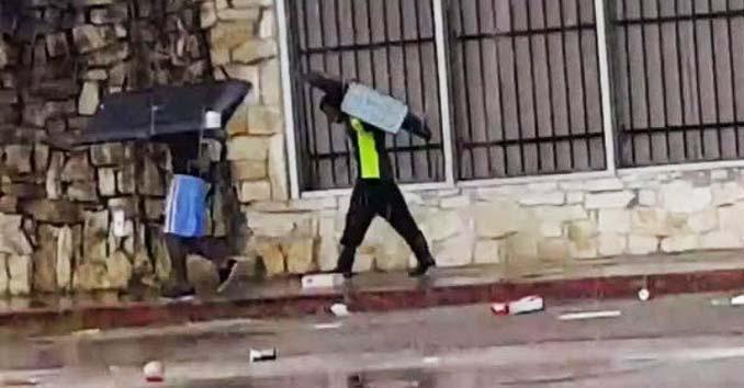 looting in Texas