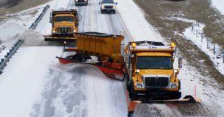 Snowplows on highway