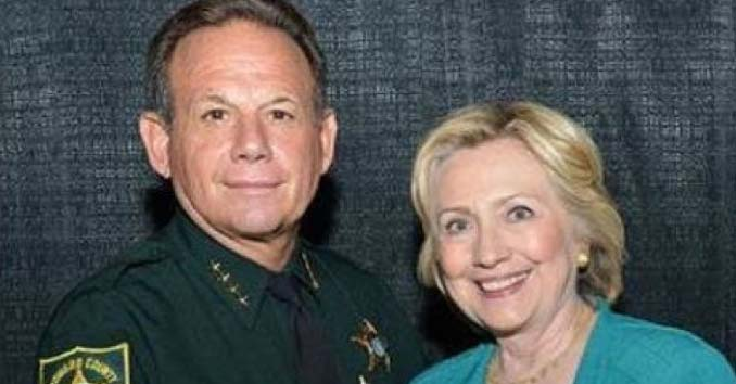 Broward County Sheriff Scott Isreal with Hillary Clinton