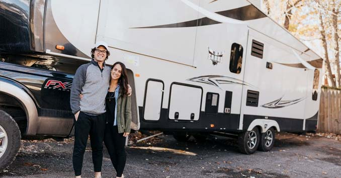 rv couple on the road